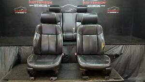 2006 Hummer H3 Front Rear Bucket Leather Seats Electric Black
