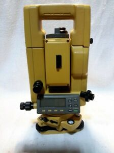 Topcon Gts 312 Surveying Total Station With Prisms And Husky Fs gs Data Handheld