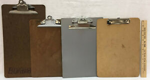 Clip Boards Hardboard Plastic Letter Legal Size Mixed Brands Office Lot Of 4