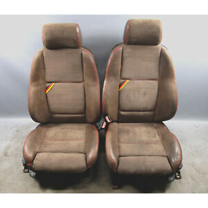 1997 1999 Bmw E36 M3 Custom Sport Seat Pair Brown Leather With Suede Oem