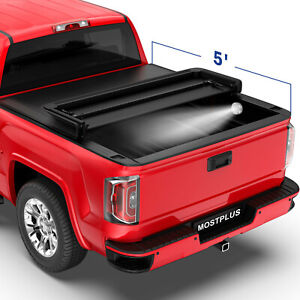 3fold 5ft Truck Bed Tonneau Cover For 15 21 Chevy Colorado Gmc Canyon Waterproof