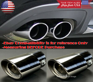 2 X Polished Stainless Steel Exhaust Muffler Tip For Nissan Infiniti 1 5 2 Pipe