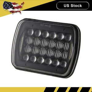 85w 5x7 7x6 Led Headlight Headlamp Flood Spot Halo Drl For Jeep Wrangler Yj Xj