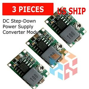 3pcs Mini360 3a Dc Voltage Step Down Power Converter Buck Module 3 3v 5v 9v 12v