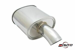 Megan M Fg 3 5 Single Stainless Curved Down Tip Exhaust Muffler 2 5 Inlet