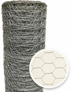 Poultry Netting 2 In X 4 Ft X 150 Ft Wire Metal Chicken Mesh Garden Plant Fence
