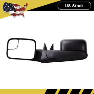 For Dodge Ram 1500 2500 3500 Pickup Manual Side View Tow Mirrors Left Right