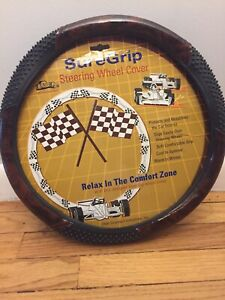New Wood Grain Steering Wheel Cover With Massage Grip