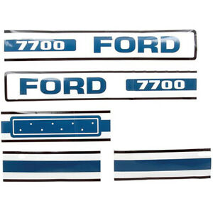 Ford Tractor Hood Decal 7700 75 81