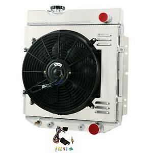 Aluminum Radiator shroud Fan thermostat For Ford Mustang 1964 1966 Falcon 60 65