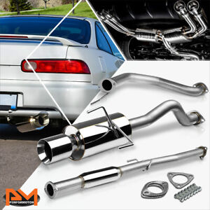 For 94 01 Acura Integra Gsr Type r 4 Rolled Tip Muffler Catback Exhaust System