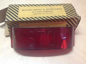 Nib Red Stop Lens Dietz No 41 Stoplight Lamp 550 r Bus Truck Light