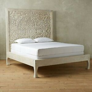 Hand Carved Queen King Size Bed