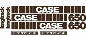 Whole Machine Longtrack Torque Converter Decal Set For Case Crawler Dozer 650