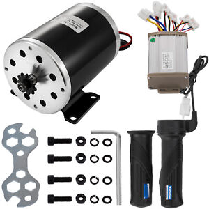 1000w 48v Electric Motor Kit W Base Speed Control Thumb Throttle For Scooter