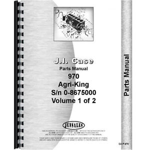 New Case 970 Tractor Parts Manual
