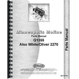 New Minneapolis Moline G1355 Tractor Parts Manual