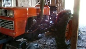 Kubota L245hc Tractor Runs Good Comes With Harrows plow Cultivators