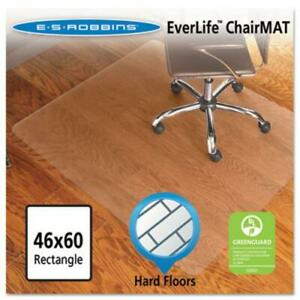 Es Robbins 131826 46x60 Rectangle Chair Mat Economy Series For Hard Floors