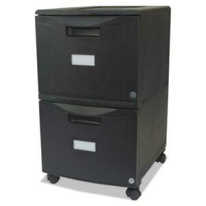 Storex 61312b01c Two drawer Mobile Filing Cabinet 14 3 4w X 18 1 4d X 26h