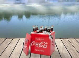 13 L Stainless Steel Ice Coca-Cola Chest Official Vintage Design Durable Liner