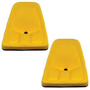 Two Yellow Michigan Seats Made To Fit John Deere Gator Lawn Tractor