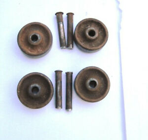 4 Wheels 4 Axle Pins For Antique Singer Sewing Machine Cast Iron Treadle Base