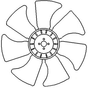 Sba145306520 7 Blade Fan For Ford New Holland 1620 1720