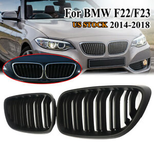 Matte Black Front Kidney Grill For Bmw 2 Series F22 F23 228i M2 F87 Coupe 14 18