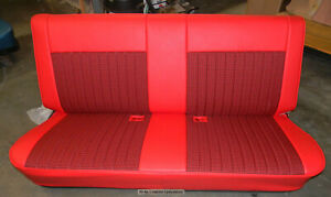 81 87 Chevy Truck Houndstooth leather Look Upholstery Bench Seat Cover
