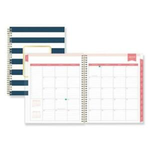 Blue Sky Bls103622 Day Designer Daily monthly Planner 10 X 8 Navy white 2021