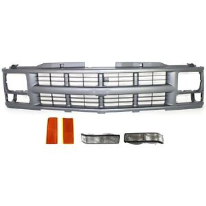 Grille Kit For 1994 1994 Chevrolet Blazer Front Fits Sealed Beam Headlights