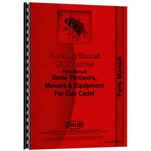 New 1980s Parts Manual For Farmall Cub Cadet Mowers Tillers Snowblowers