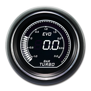 Evo Series Electronic Boost Gauge Bar White Green Backlit Included Sensor Kits