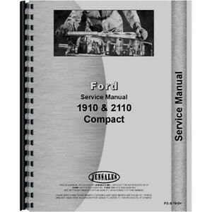 Service Manual For Ford 1910 diesel compact 2 And 4 Wheel Drive Tractor