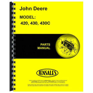 Parts Manual For John Deere Tractor 420