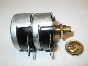 Vintage Cts Dual 10k Ohm Wire Wound 2 Watt Potentiometer Sd Adjust Nos
