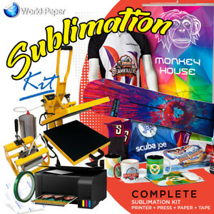 Sublimation Printer Bundle Ecotank Heat Press 2 In 1 15 X 15 W Mug Press
