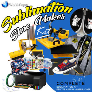 Heat Press Transfer Machine Sublimation T shirt canvas Shoes Diy Printing 6 In 1