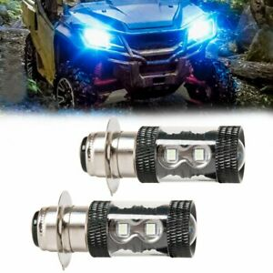 For Honda Trx Rancher 350 400 Recon 250 Cree Led 8000k Ice Blue Headlight Bulbs