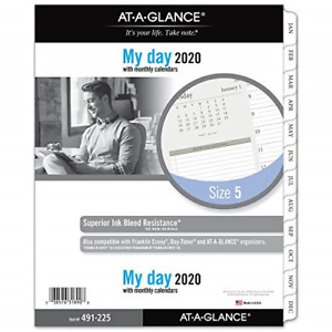 At a glance 2020 Daily Planner Refill Day Runner 8 1 2 X 11 Folio Size 5