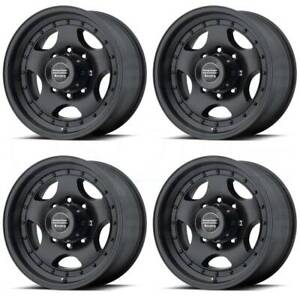 15x10 American Racing Ar23 6x5 5 6x139 7 44 Satin Black Wheels Rims Set 4