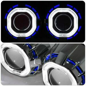 2 5 Bi Xenon Headlight Retrofit Ccfl Halo Square Blue White Hid 6k For Toyota