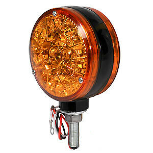 Round Led Amber Warning Light flasher Unit For Case Ih Ford New Holland Tractor