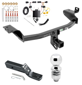 Trailer Tow Hitch For 2019 Jeep Cherokee Complete Package W Wiring Kit 2 Ball