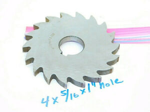 Used Hss Slitting Saw Milling Cutter Dia 4 X 5 16 X 1 Arbor