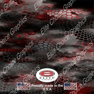 Chameleon Hex 2 Red Camo Decal Wrap Vinyl 52 X15 Truck Print Real Camouflage