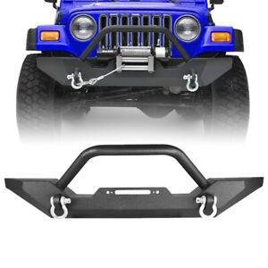 Closed Simple Style Front Bumper For 1997 2006 Jeep Wrangler Tj Unlimited