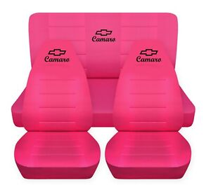 Car Seat Covers 1984 Chevy Camaro Berlinetta Coupe Hot Pink Front Rear Set