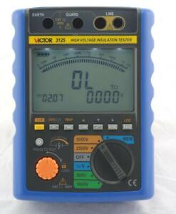Vc3123 vc3125 Digital High Voltage Insulation Resistance Tester Meter